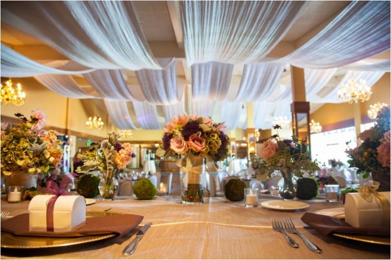 Fall Colors Country Club Wedding Green Purple Gray Sacramento Photographer